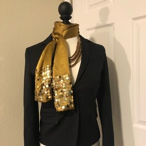 Sequined gold holiday scarf